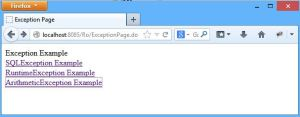 Exception Page