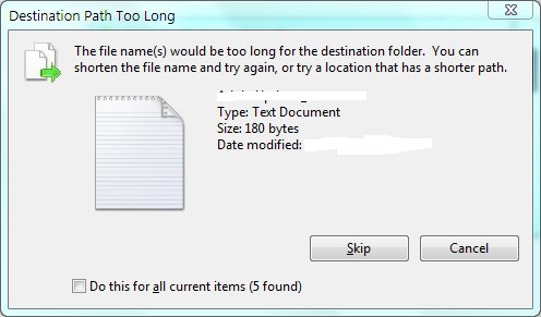 how to delete long path file